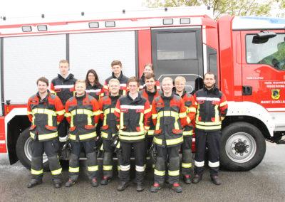 Zwölf Aktive der Freiwilligen Feuerwehr Riggerding haben die Leistungsprüfung Löschangriff abgelegt.