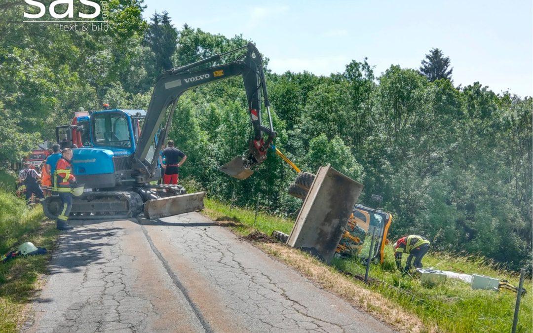 Arbeiter von Baufahrzeug erdrückt