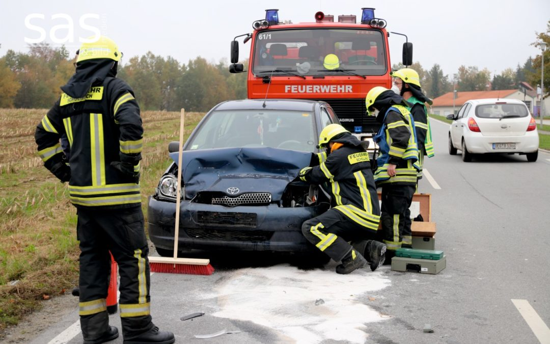 Verkehrsunfall mit 3 Fahrzeugen