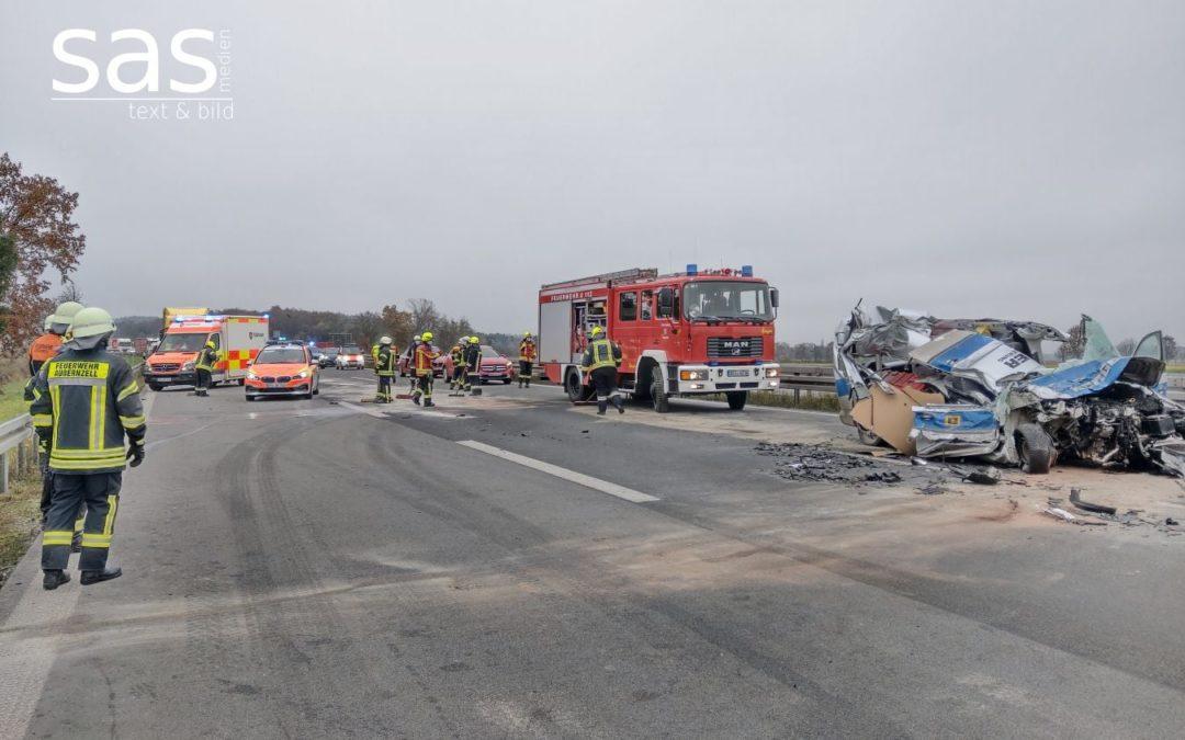 Unfall mit LKW auf A3