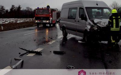 Verkehrsunfall beim Gewerbepark Leutzing