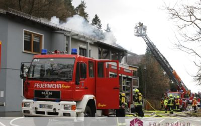 Dachstuhlbrand in Flintsbach