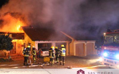 Wohnhausbrand im Emminger Feld